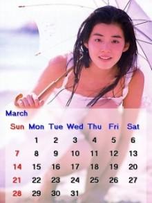 ノア流星群の神々-石田ゆり子2010年3月のカレンダー
