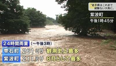 平成25 年8月9日の大雨・洪水