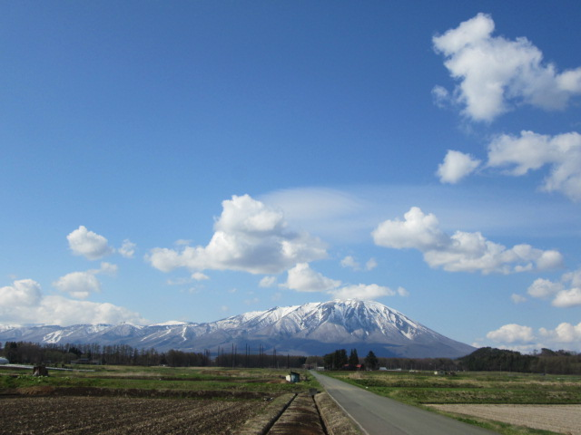 5月残雪の岩手山